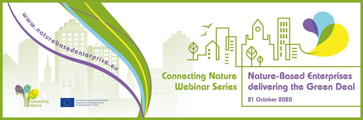 👇Join the webinar on Nature-based Enterprises, led by @ConnectingNBS on October 21st. @REGREEN_nbs will participate and provide insight into its future business & innovation activities... 🍃