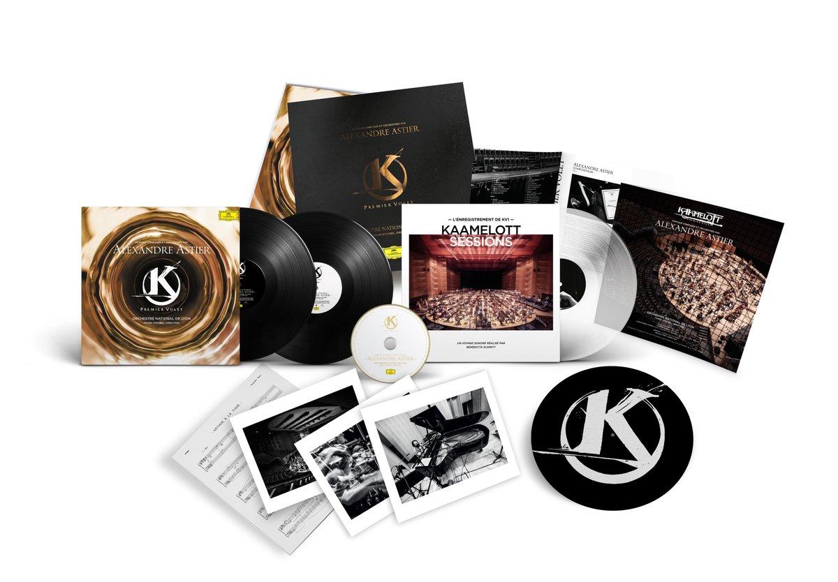 Voilà ce que vous réserve le Coffret Collector Edition Limitée de «Kaamelott – Premier Volet» d'Alexandre Astier. Réservez le vôtre ici  https://t.co/tsSwuckSR7 Inclus: la bande originale en double vinyle 180g + CD et un livret de 8 pages de textes et photos. 1/3 https://t.co/pgKx5KhFQL