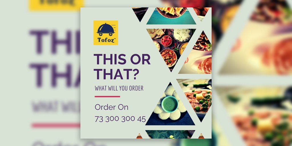 This or that?  Android and Web app coming soon  Help India fight the pandemic Get the best food delivered to your house with the best safety Order on 73 300 300 45  #lockdown #lockdownindia #cyclone #pune #ambegaon #manchar #lunch #besecure #dinner #lunchtime #food #TOFOZ #PIC https://t.co/Ip2J2oKJ1E