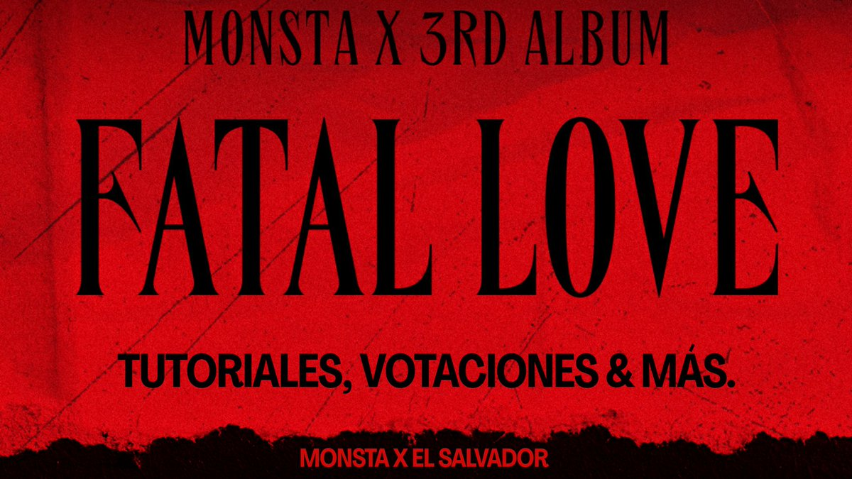 ▰ 𝐓𝐡𝐫𝐞𝐚𝐝⚡▰        𝐌𝐎𝐍𝐒𝐓𝐀 𝐗 𝟑𝐄𝐑 𝐀𝐋𝐁𝐔𝐌                  𝐅𝐀𝐓𝐀𝐋 𝐋𝐎𝐕𝐄  #MONSTA_X #FATAL_LOVE @OfficialMonstaX @official__wonho