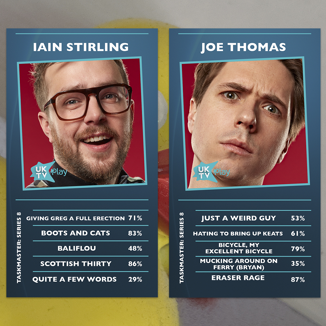 Here they are! Its cards for #Taskmaster Series 8! We love them as we love our own children.