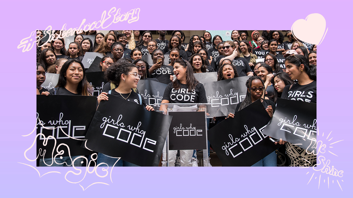 All week, @GirlsWhoCode has been teaming up with @Apple and #TodayAtApple to celebrate SISTERHOOD leading up to #DayOfTheGirl on Sunday. Why? Well, we believe in the power of sisterhood to close the gender gap in tech. #SisterhoodStory