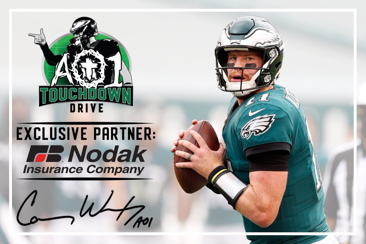 For the second straight year, we are proud to partner with @nodakinsurance for the AO1 Touchdown Drive! Through this program, @nodakinsurance will pledge $2,000 for every touchdown @cj_wentz is responsible for during the 2020 season.