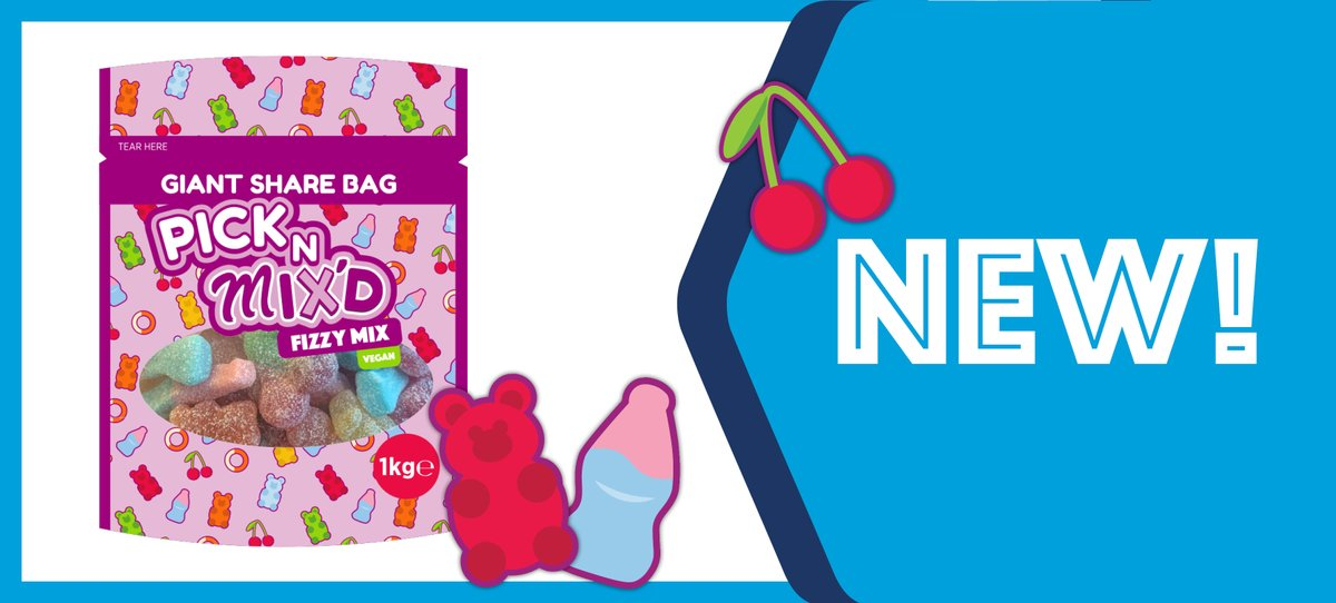 Our NEW PICK N MIX'D 1KG GIANT SHARE BAGS are now available to buy in-store and online! 😱  Available at just £15.96 for a case of 4 pouches, sell at £9.90 each and make a giant 51.6% POR!   Check them out here 👉 https://t.co/2BnUzZFdH1 https://t.co/a4enYhgRg8
