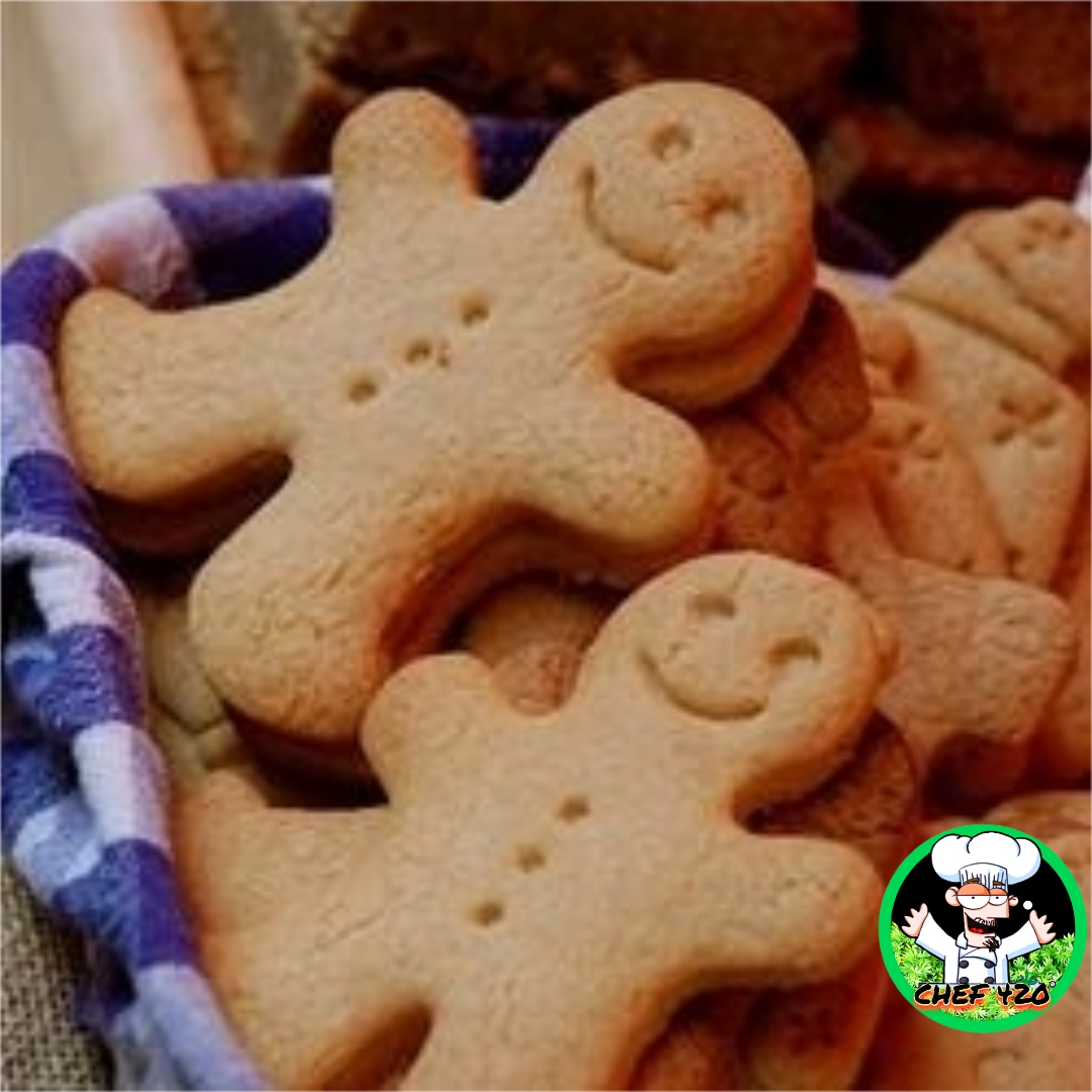 Chef 420s Medicated Gingerbread people, These are a tasty addition to your cookie basket,Get em before they run off.    https://t.co/F9rP7iT5xE    #Chef420 #Edibles #Medibles #CookingWithCannabis #CannabisChef #CannabisRecipes #InfusedRecipes  #Happy420 #420Eve #420day https://t.co/yk4YISriyu