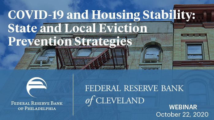 Join @ClevelandFed & @philadelphiafed on Oct 22 for COVID-19 & Housing Stability: State & Local Eviction Prevention Strategies. Hear how local governments can support at-risk renters & learn about research on housing instability caused by #COVID19: https://t.co/24TNhMF15v https://t.co/wsRj2Bkd0R