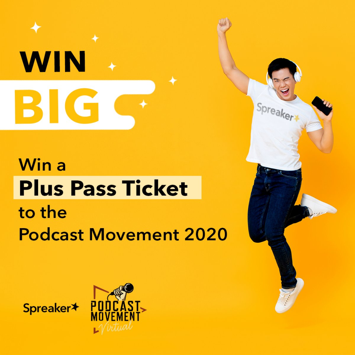 Spreaker takes you to the @PodcastMovement! We're giving away ☝One Plus Pass ticket to Podcast Movement Virtual 2020  How do you enter? ✅ Be sure to follow @spreaker on Instagram & tag a friend in the comments of this Instagram post 👉 https://t.co/ehpZhtN2BW https://t.co/9L3ZZ9rpUJ