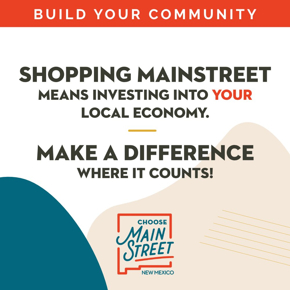 Shopping with your local NM MainStreet businesses benefits your community at large more than you think! You're putting money right back into the place where it counts most – home. #NMChooseMainStreet #ChooseMainStreetNM #NMMSLoveLocal #FortheLoveofLocalNM #nmtrue #shoplocalNM https://t.co/Pi8gqfOYBR