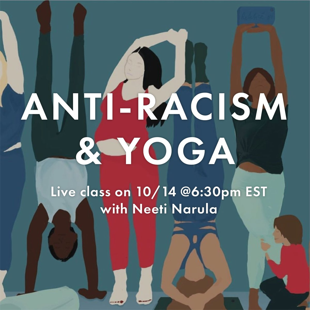 Join Manduka Ambassador, Neeti Narula next Wednesday at 6:30 PM EST for her monthly class series with the goal of raising funds for #BIPOC organizations. 100% of class proceeds next week will go to #BlackVotersMatter.  Sign up here to attend ➡️ https://t.co/h2h52WozRu https://t.co/Cw13hjI1qY