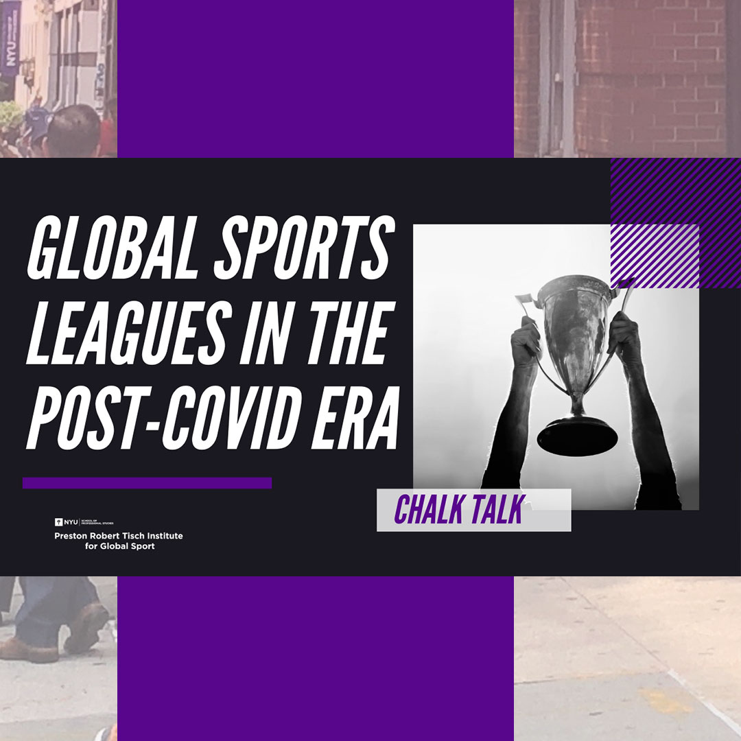 Wednesday, October 14 at 5:00 PM EST! . Join @danielgkelly2 and guest speaker Hans Sieger as they take a deep dive into the business of Global Sports Leagues and the responses to the COVID-19 pandemic's restrictions.  . Register: https://t.co/hq2wOTipVr https://t.co/rPUkjufdP4