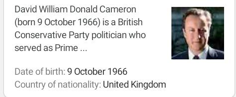Happy birthday David Cameron. October Children like Ribena are healthy children