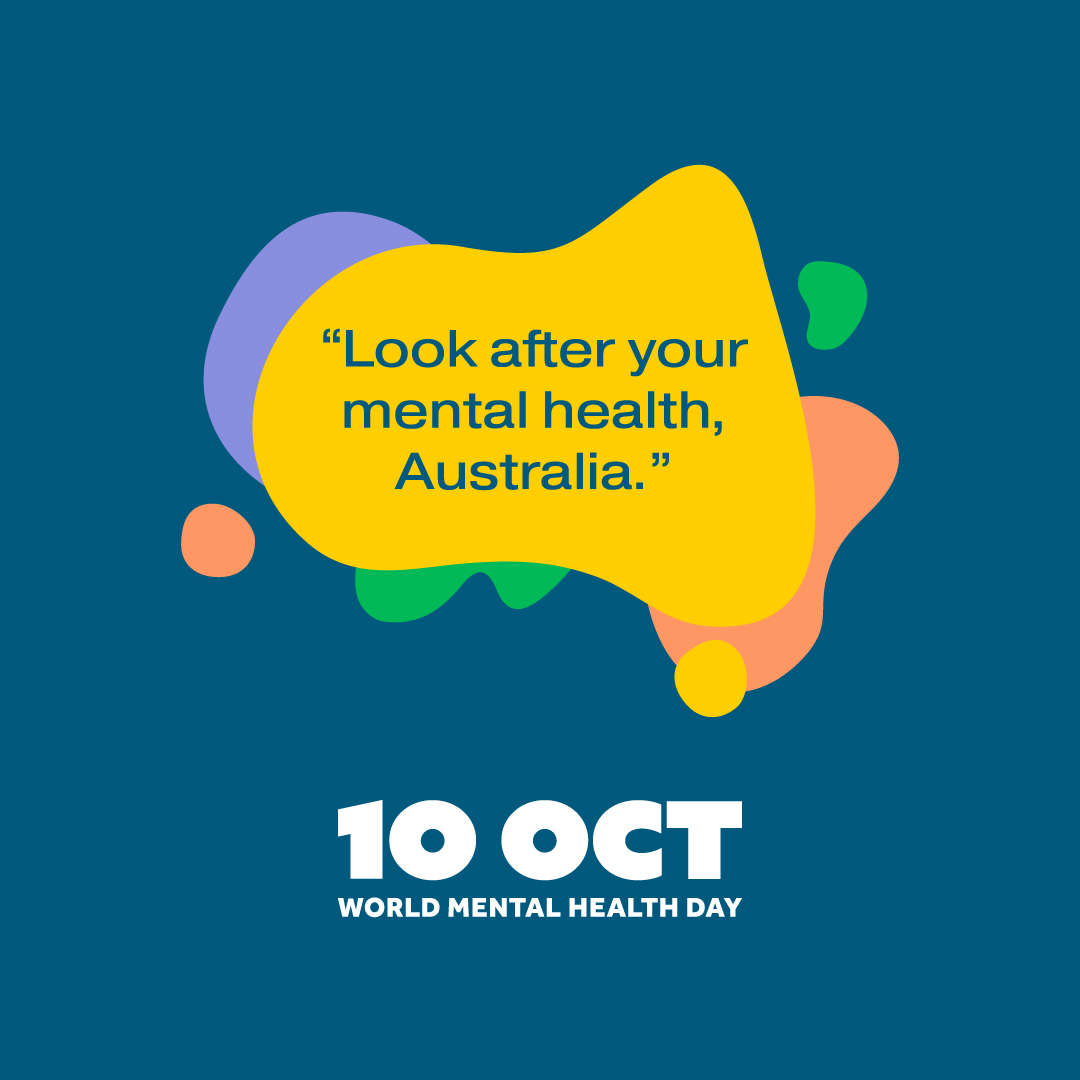 "Today is World Mental Health Day and the message is ""Look after your mental health, Australia.""  Make a mental health promise and find tips, advice and resources to help you look after yourself and others at  #WMHD2020 @AUMentalHealth"
