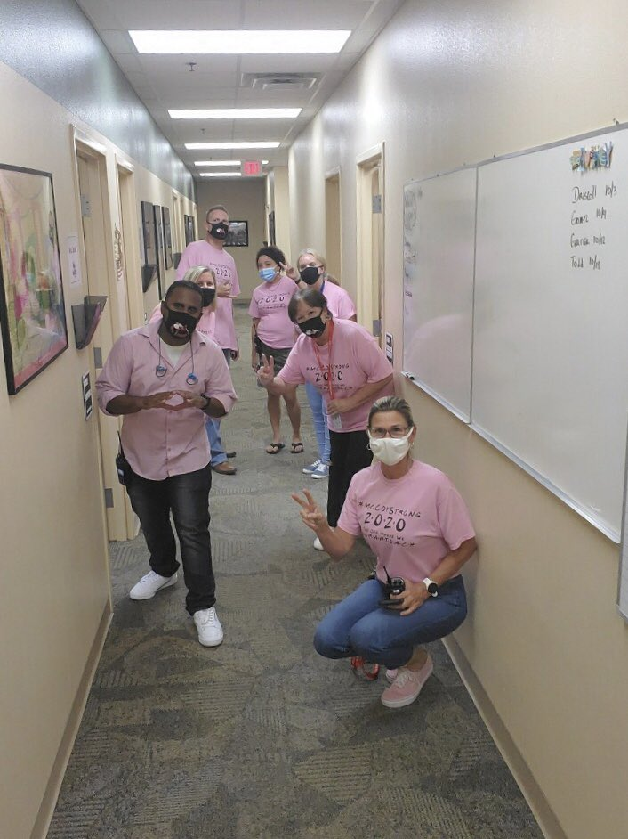 Love my staff!! 💖 #Pinktober #PinkOut #FindACure #BreastCancerAwareness #McCoyJets
