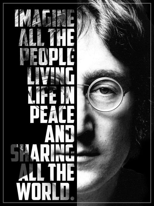 Happy Birthday John Lennon. Thank you for inspiring us to imagine peace.