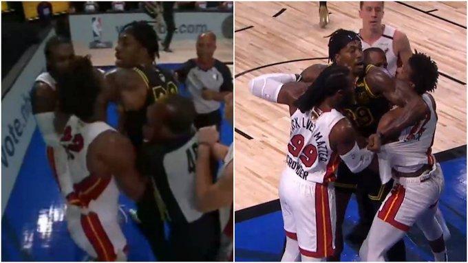 【影片】火藥味十足!Howard和Butler在籃下發生衝突,險些大打出手,兩人各領到一次技犯!