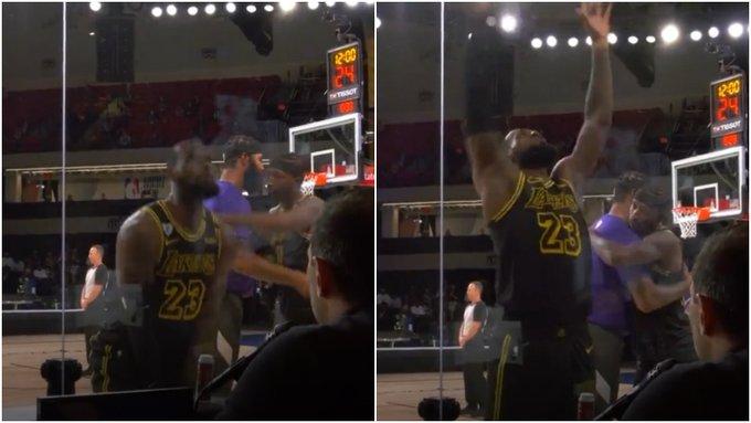 【影片】GO Lakers!G5賽前,詹姆斯再次開啟標誌性的撒鎂粉儀式,距離冠軍只有一步之遙!