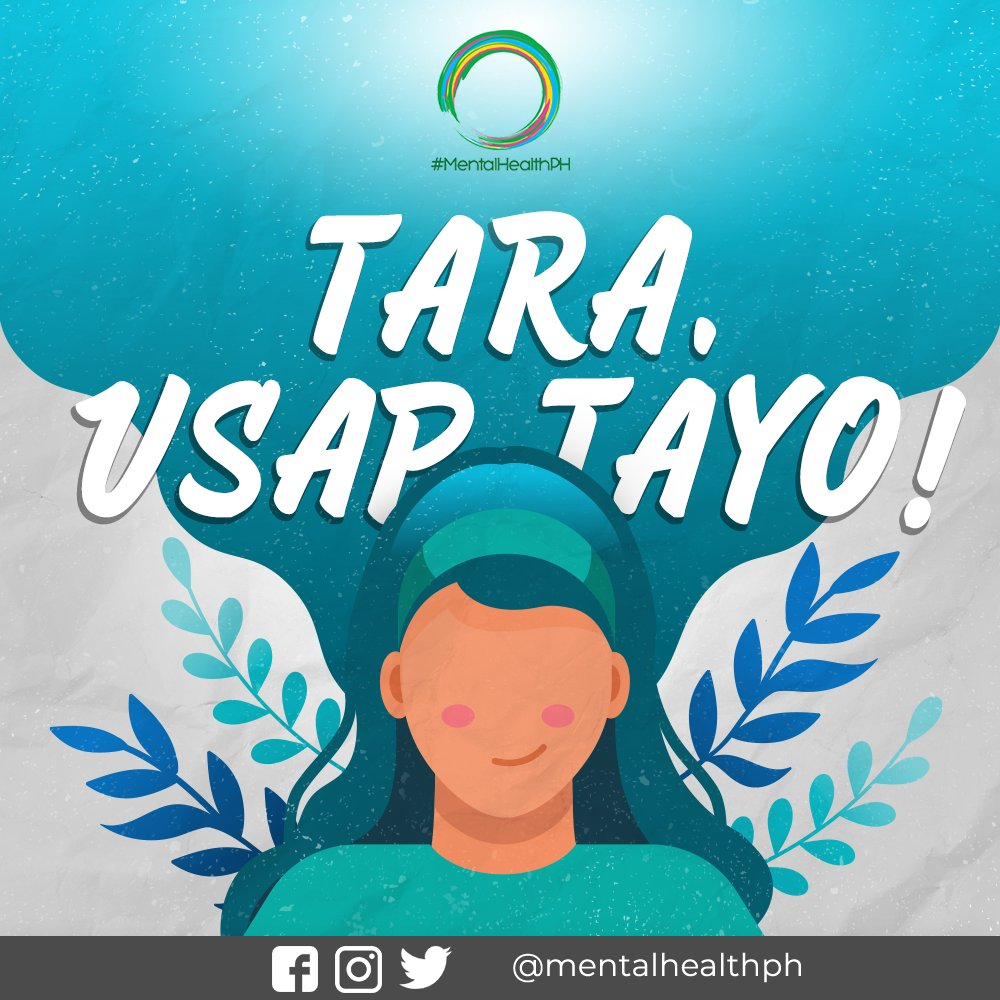 "Happy World Mental Health Day, MH Champs! 💚💚   And it wouldn't be complete without our regular tweetchat, #UsapTayo 💬 For today, we will focus on self and the role of ""self"" to push for greater investment in #MentalHealth.   JOIN US, from 7-8PM by using the hashtag #UsapTayo!"