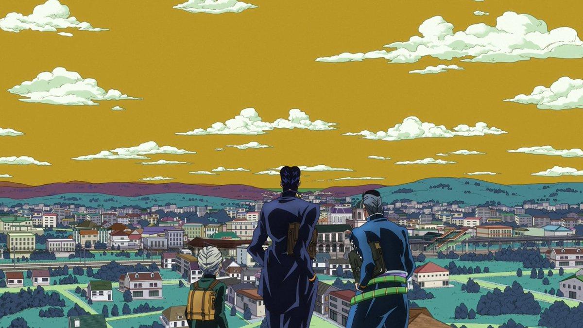"Jojo's Bizarre Visual Design on Twitter: ""Morioh Sky Colors - Part 1… """
