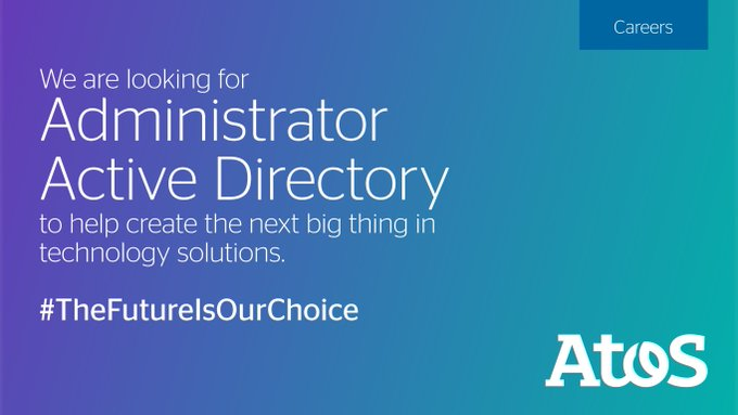 [Atos Jobs], In India, Atos is looking for Administrator for Active Directory for Pune...