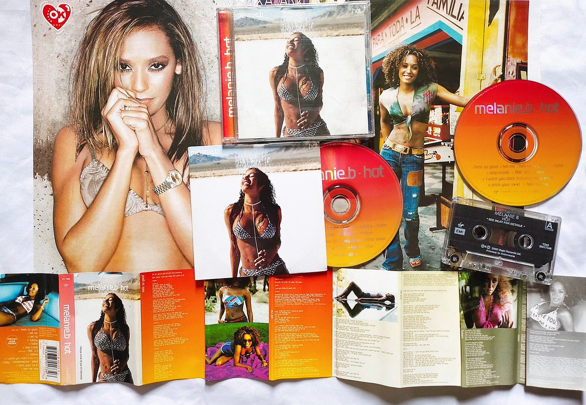 """Happy 20th Anniversary 🎉 @OfficialMelB """"HOT"""" Album It was released on 9 October 2000!.  #melanieb https://t.co/fzXWwyta9I"""