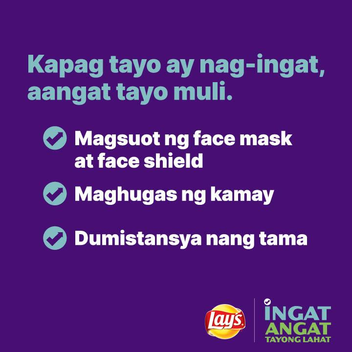 When we take extra care and precaution, we believe that we can all heal and recover as one. #IngatAngat  Don't forget to wear your face mask and face shield, wash your hands, and practice proper social distancing.