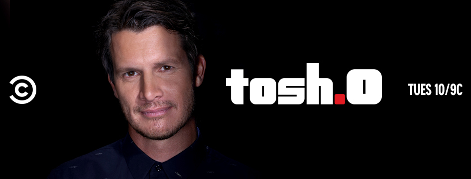 Watching @Tosh0_TV (#ComedyPartners).  New Episode - Cat Food Reviewer (S12E04) #Tosh #SeasonOfMourning @danieltosh @ComedyCentral