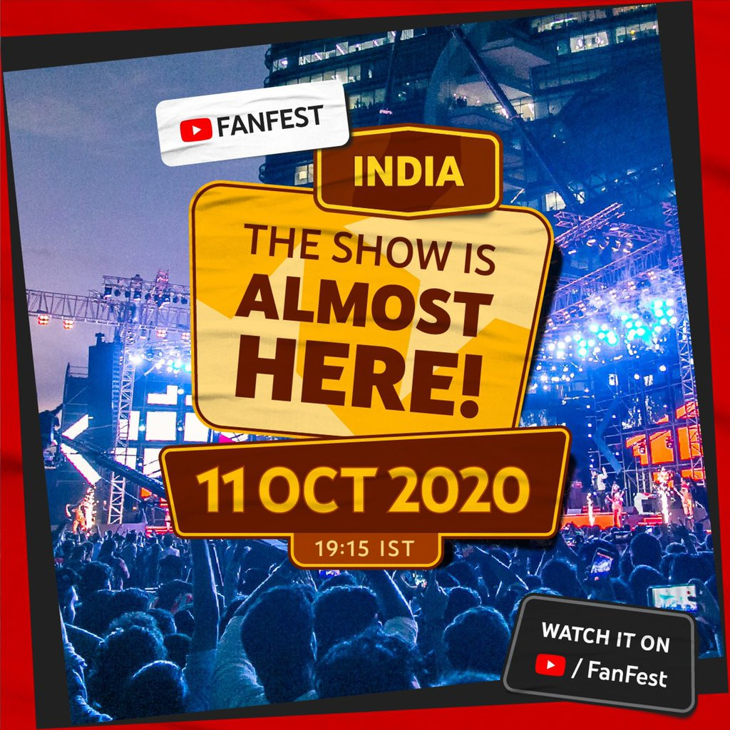 Performing your fav tracks from #Petta, #Master and #Doctor tomo on the @YouTubeFanFest at 7:15 pm :)  Don't miss out on the show! Catch the #YTFF2020 livestream on Oct 11 from 19:15 IST➝ https://t.co/otC6f7oDPq https://t.co/Gnt2KZyIXO