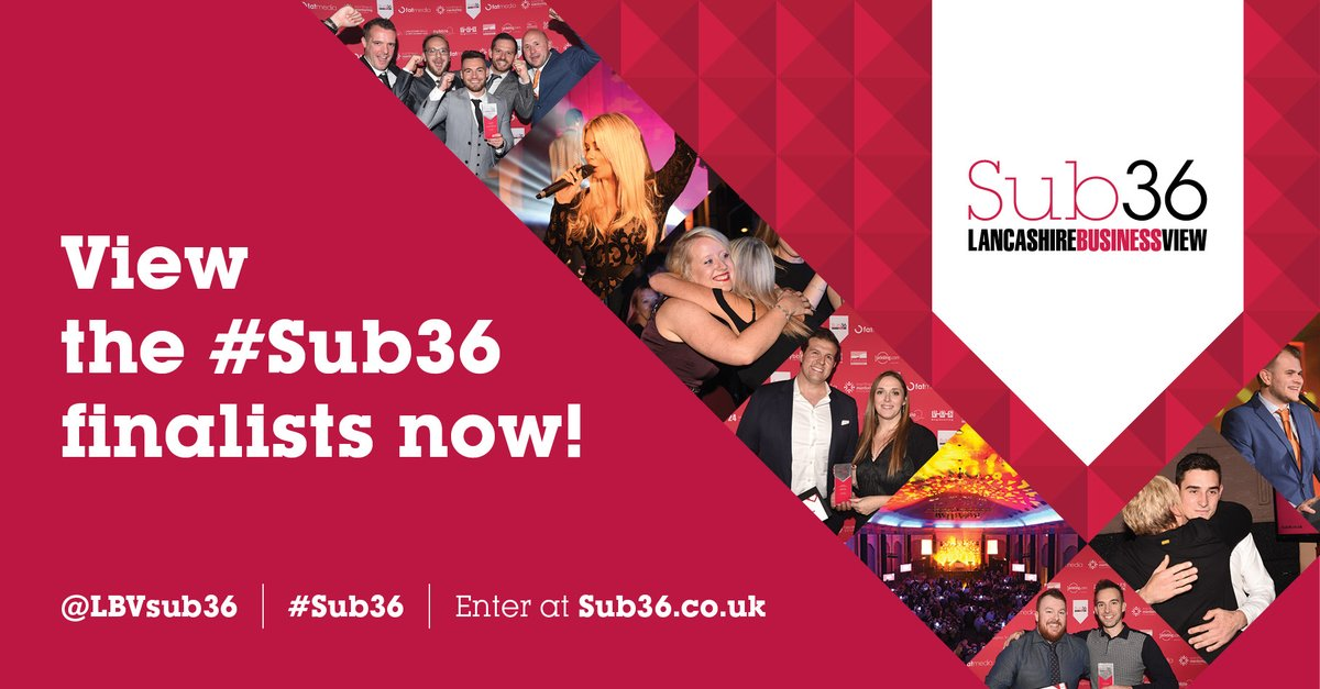 The Sub36 Awards 2020 finalists have been announced here: https://t.co/gAkQskoG9L   Congratulations to @AcumenF @ArtzCentre @BAESystemsAir @Spiroflow on being named #Sub36 Apprentice Award finalists! Sponsored by @LancsSkillsHub https://t.co/UdcBIdvUu6