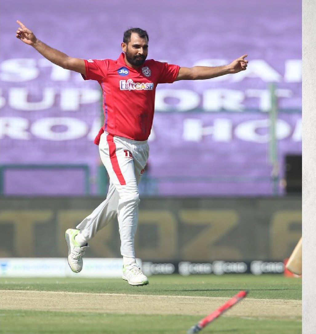 "@MdShami11 🦁 Mind-blowing You as Always!! Taken Beautifully ""50th Wicket of IPL""!🔥 #mdshami #KXIPvsKKR #IPL2020  #mshami11 ❤❤"