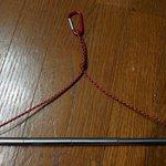 ダイソーの自撮り棒を使って伸縮式ハンガーを自作!ポケットにも入ってキャンプに便利!