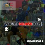 Image for the Tweet beginning: 🌴Happy World Squash Day 2020