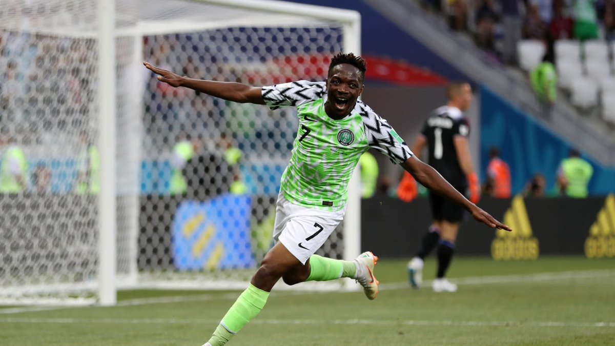 Nigeria 🇳🇬 forward @Ahmedmusa718 is edging closer to becoming the most capped Super Eagles player ever. Yesterday, he moved up to 92 appearances.   Joseph Yobo and Vincent Enyeama are tied at 101 appearances. Legends.