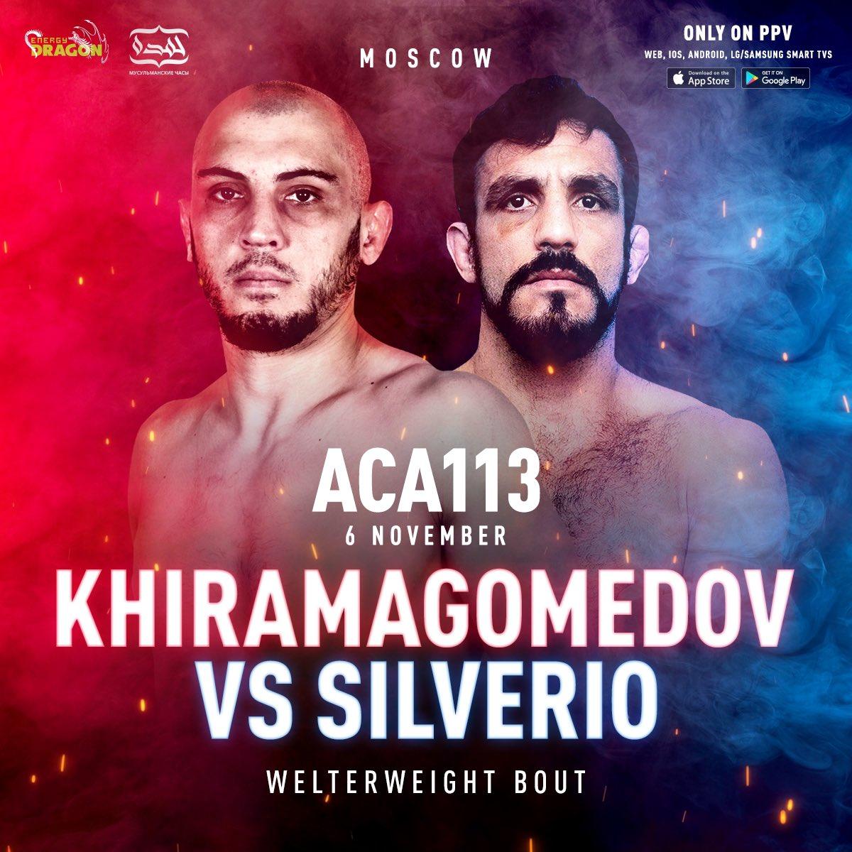 ⚡️Welterweight fight at ACA 113!   Gadzhimurad Khiromagomedov (8-4) vs. Elias Silvério (17-4) https://t.co/CJk5WHtvPI