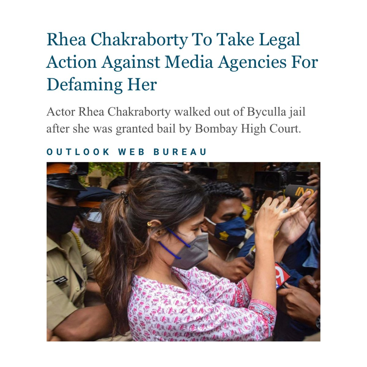 As a media and free speech lawyer, I'm rarely glad to see  defamation cases. Very glad to see Ms. Chakraborty's intention. I hope it acts as a corrective.
