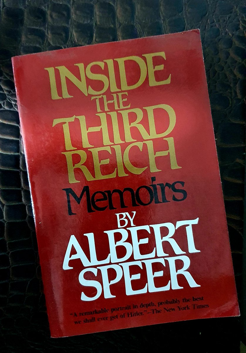 Day 62: #100Days of posting covers of books I love #MyFavouriteBooks   INSIDE THE THIRD REICH  A rare perspective: A largely sane mind offering a first-hand perspective of working, rising & then struggling within an institution that plunged headlong into a divorce from sanity https://t.co/T6hpONxxUm https://t.co/kSzIwUgphk
