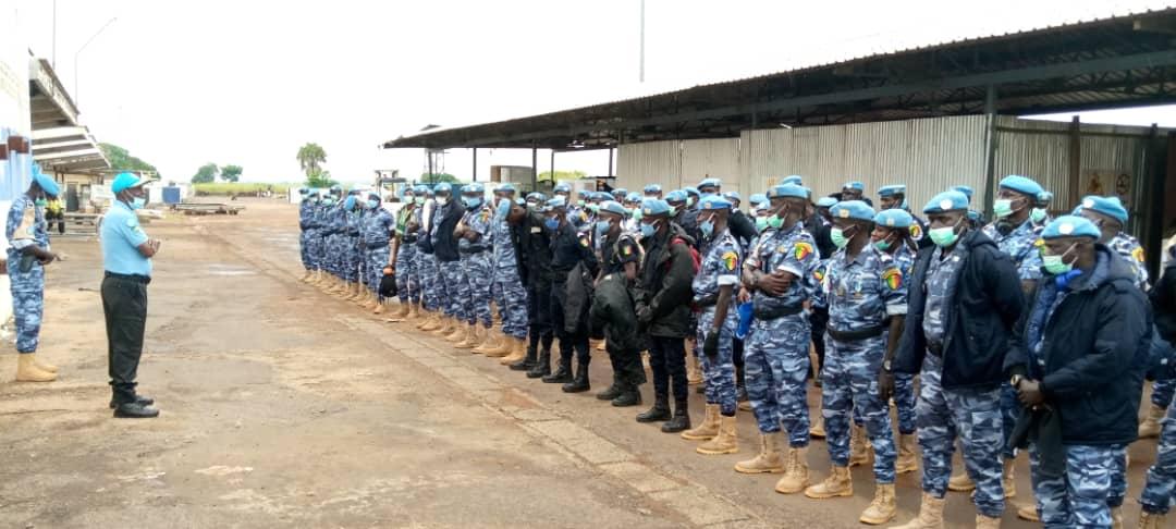 Arrivée à #Bangui ce jour 28/09 de 126 UNPOL 👮♀️👮♂️de l'unité de police constituée  du Sénégal 🇸🇳 (SenFPU-1). La SenFPU-2 est attendue à #Berberati le 14/10 pour ensemble, poursuivre les grandes priorités actuelles en #RCA 🇨🇫: #Elections_2020, justice, soutien aux #FSI. https://t.co/XClxJDeXWT