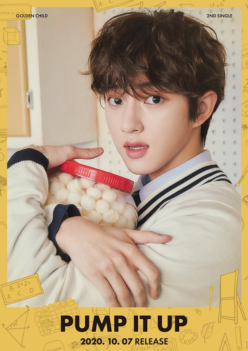 The way #GoldenChild JAEHYUN hug the cheeseballs (?) jar is like he was keeping it from the members because he doesn't want to happen again when members ate his choco balls secretly during #Wannabe era. 😂😂😂  #PumpItUp #골든차일드 https://t.co/3DgrkXovYv