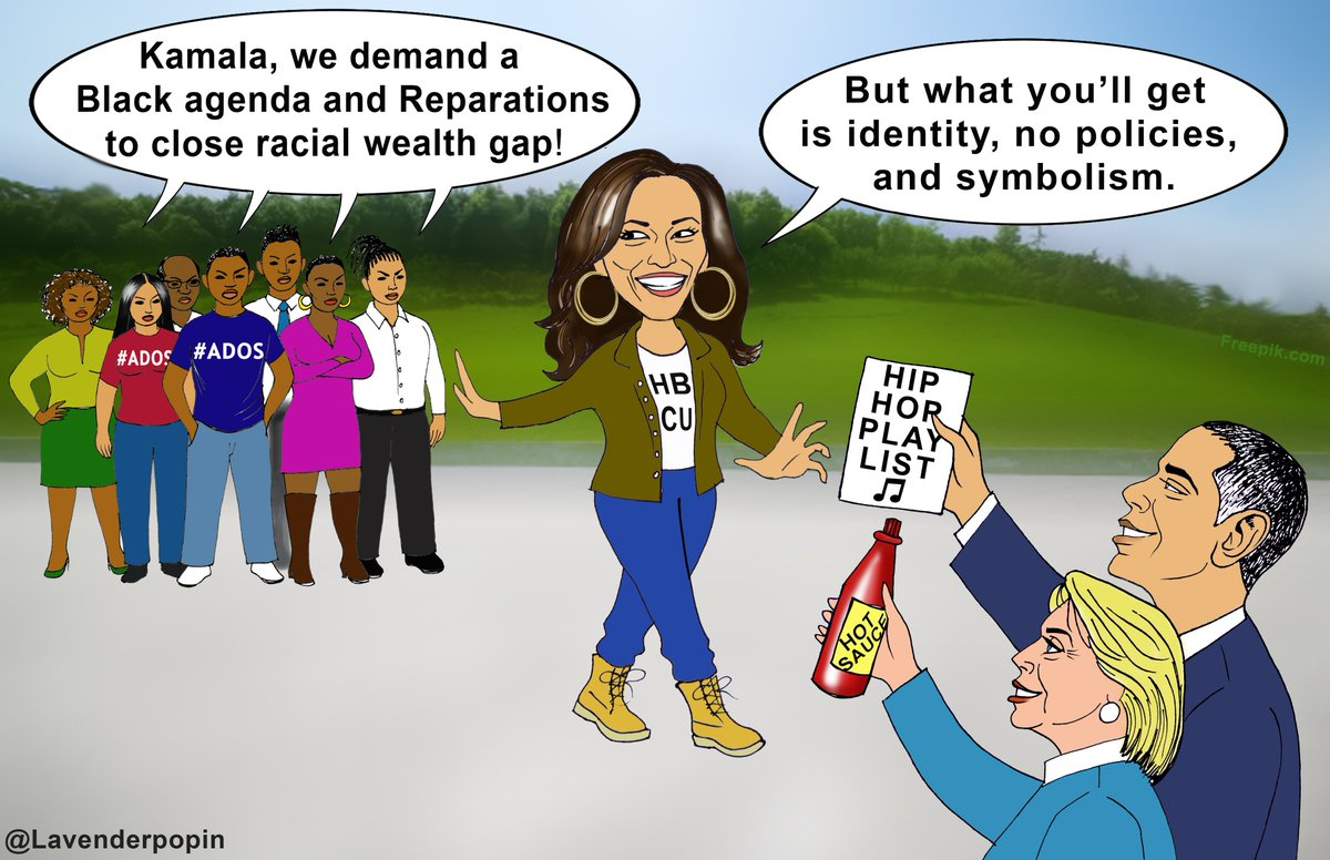 "ADOS made #Reparations a campaign conversation. We have moved beyond Bill Clinton playin the sax on Arsenio & candidates pandering to be hip. You don't deserve Black vote without policies for #ADOS. What is the ADOS plan on ""day one""? @KamalaHarris @JoeBiden @K_JeanPierre https://t.co/PmNVlU1rc8"