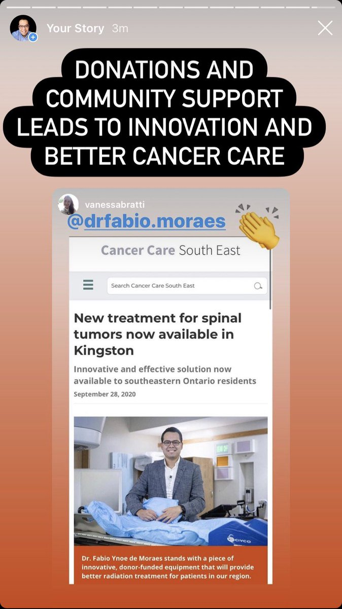 New treatment for spinal tumors now available in Kingston https://t.co/TYG5B6oQXZ #Cancer #spine #radiation #fundraising #Donations https://t.co/dCwZxgcKTz