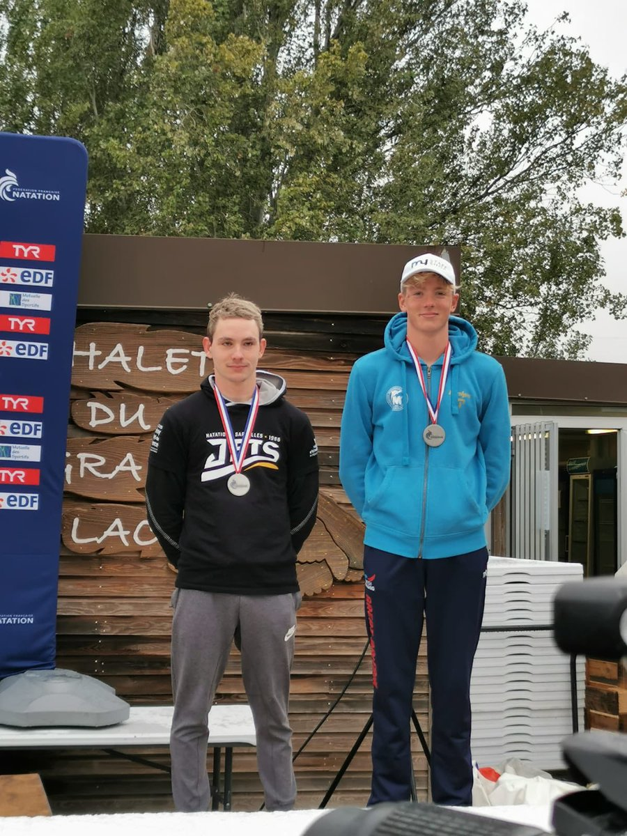 25km silver 🥈today at the French Championships in 4.59.03 hours 🇫🇷 water temperature was 17.4 with wet conditions, a good first experience and some good hard work, pushed a little too hard from the 15-20km mark and felt it at the end, more pain more gain! 💪🏼 #openwater https://t.co/9f9umGsAkK