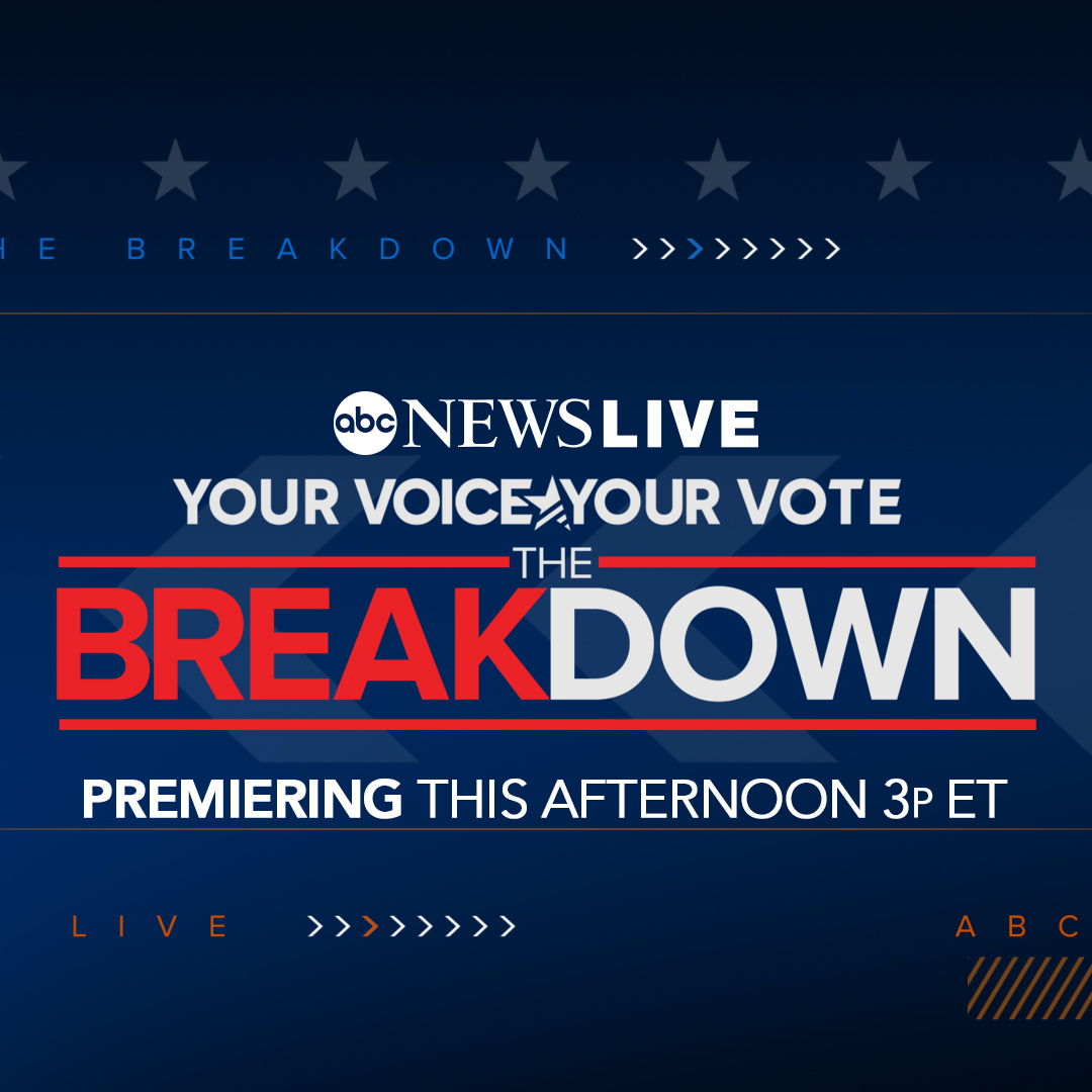 "TODAY: Don't miss the premiere of ""Your Voice Your Vote: The Breakdown,"" a political show airing weekdays on @ABCNewsLive at 3 p.m. ET.  Join anchors @dianermacedo and @TerryMoran for the latest political news, with contributions from @FiveThirtyEight. https://t.co/or97D1OhJC https://t.co/RCzfkCbDiO"