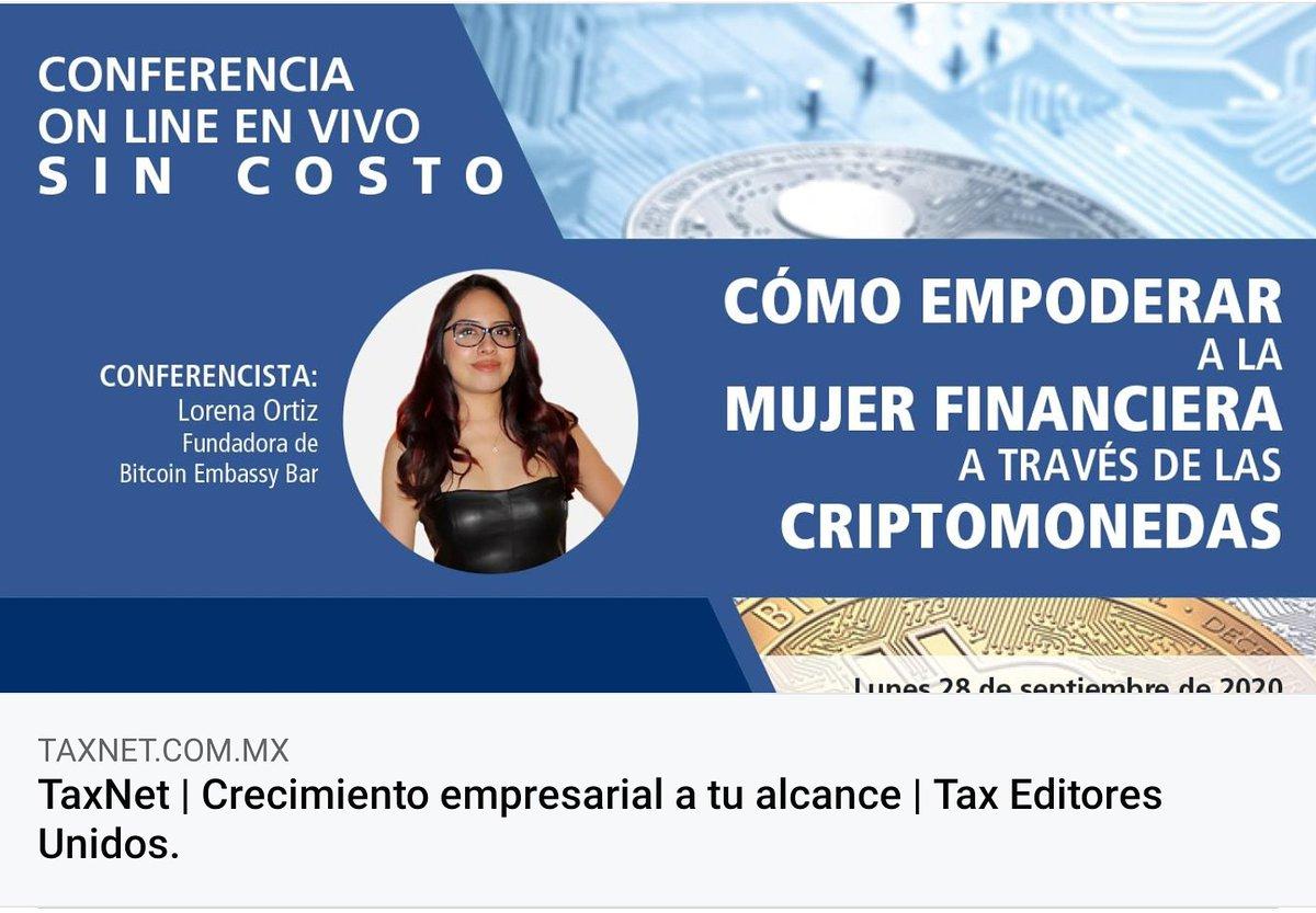 """Los horarios de los evetos de hoy son:  12:00 Hrs 🇲🇽 Conferencia: """"Como empoderar a la #mujer financiera a través de las #criptomonedas"""" con #OswaldoReyesCorona.   14:30 Hrs 🇲🇽 #Livestream en @TuneBlock con @bitcobie, @juanencripto, @alvarocobarro, @criptobastardo y @LOReBitcoin https://t.co/xC4SkQoueZ"""