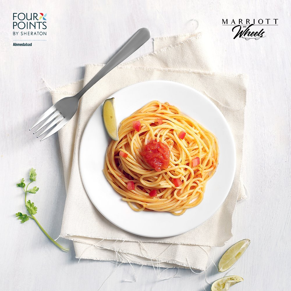 A filling round of pasta to satiate your cravings. Select from the many options and our updated #MarriottOnWheels menu from #FourPointsAhmedabad.  View #menu: https://t.co/n45yWlU2Xp For details, chat with us: https://t.co/Pqz51g2Pp7  #Pasta #TheEatery #FourPoints #Ahmedabad https://t.co/xM6awds0fb
