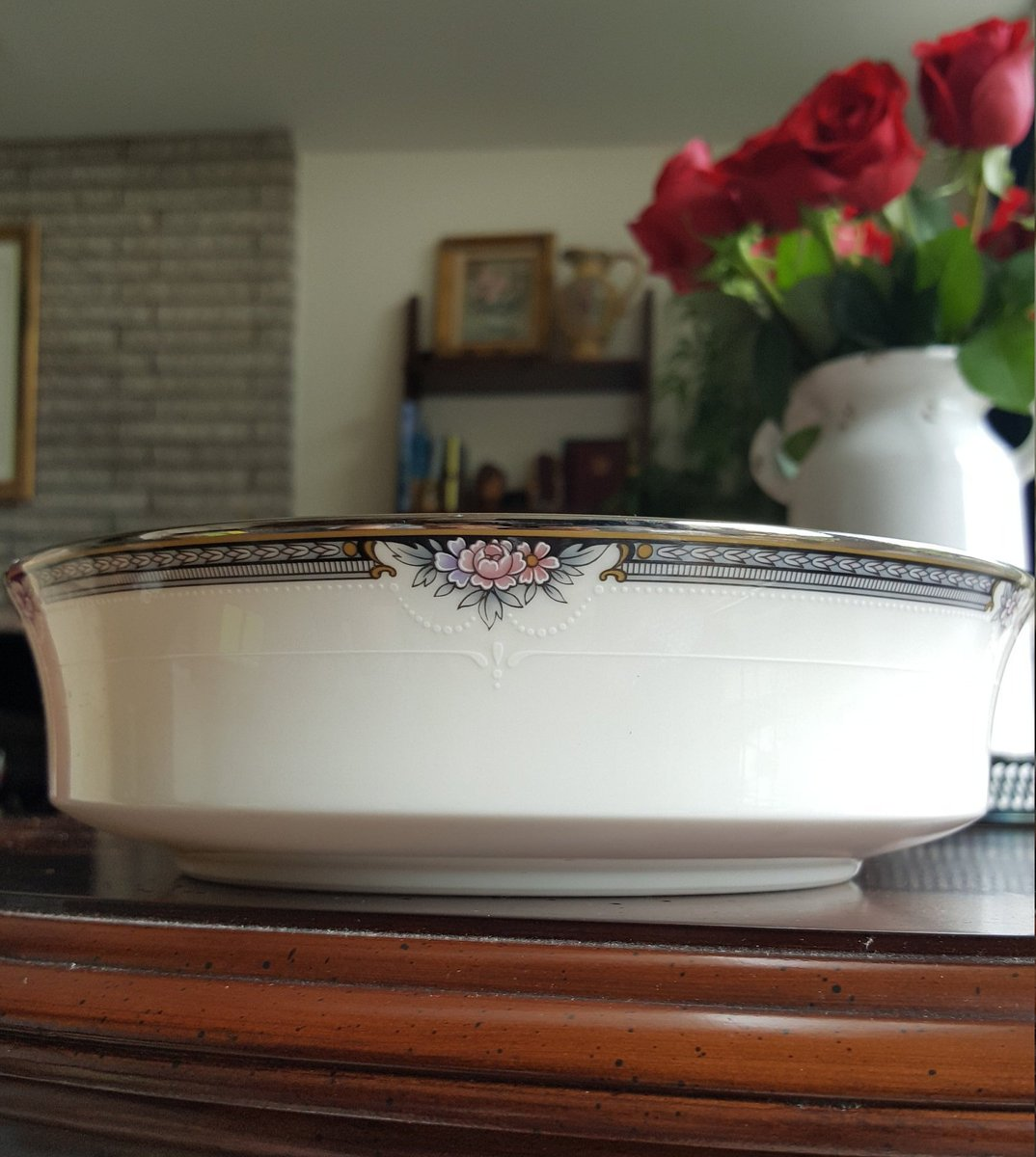 Excited to share the latest addition to my #etsy shop: Noritake Halifax Round Vegetable Bowl Beautiful Pink Flowers and Black Band Replacement China Luxury Dinnerware Wedding Registry China Set https://t.co/NiqDWBmFgn #white #wedding #mothersday #silver #noritakefinech https://t.co/aJACeY3xfV