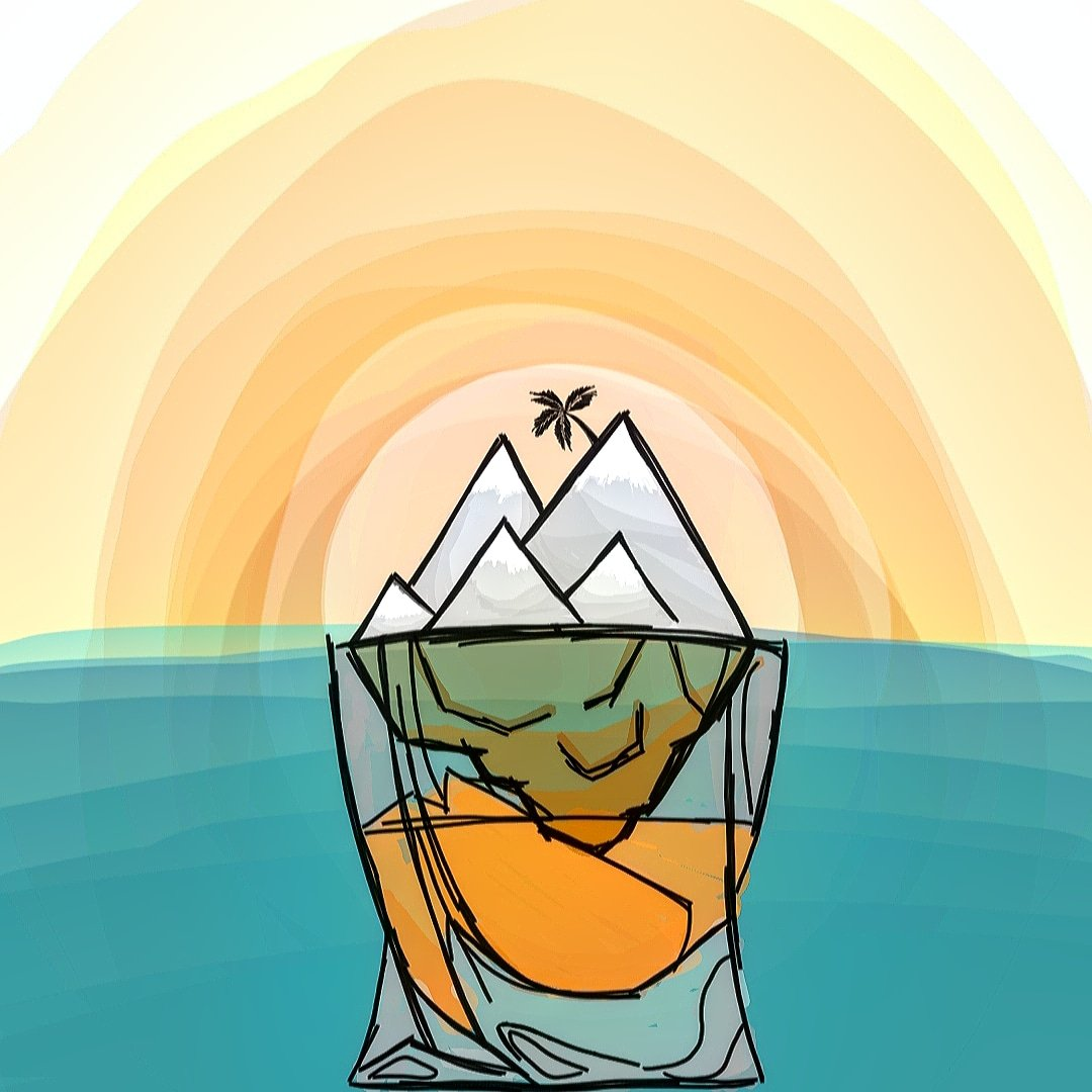 🥃🗻  #island #sunrise #mountains #snow #snowfall #wine #glasses #tequila #deep #top #season #tropical #ice #cold #ocean #coconut #shot #thoughts #imagination #bored #quarantine #relax #view #cool #cute #color #dream #notanartist #art #artistsoninstagram https://t.co/WFCE7MiigG