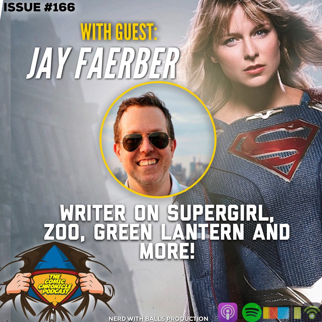 New week means NEW episode of The Comic Chronicle Podcast! #Comics #writer and writer on the #Supergirl show, @JayFaerber joins me to talk writing, tv and more in Issue #166. On Apple Podcasts, Stitcher, Spotify and https://t.co/mkq9KW2erW STAY CREATIVE! #cw #dccomics https://t.co/dUeiCMQC7b