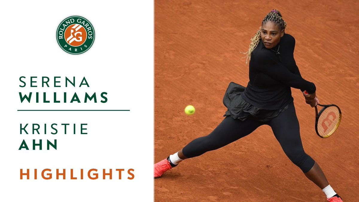 📺 Watch the highlights by @Emirates of the 1st round match between Serena Williams and Kristie Ahn.  🇺🇸 Serena Williams won in two sets 7-5, 6-0.   #FlyEmiratesFlyBetter #BackInTheGame https://t.co/hjrunm2bjz