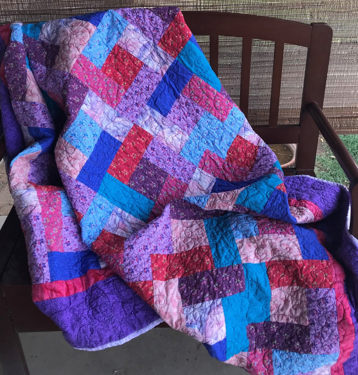 Excited to share in my #etsy shop: 66 x 76 Pink and Purple Floral Quilt https://t.co/odqD6yUAsV #pink #purple #geometric #cotton #fabric #orange #red #green #blue https://t.co/uzV98FkENv
