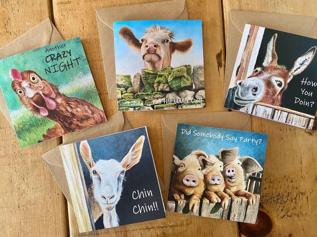 Our first set of Farmyard greetings cards available online or at Williamson Farmshop in #Gainsborough - all taken from our original paintings.  https://t.co/pvJPDyw3uG #lincsconnect #lincsartcrafthour #lincsconnectchristmas #shoplocal @sallywill_sally https://t.co/cFUWQo6t3U