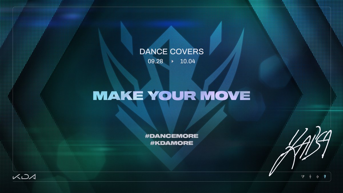 Make your move. This week, show us your dance covers of POP/STARS and THE BADDEST with the tags #DANCEMORE and #KDAMORE. https://t.co/UCd30q55Lh